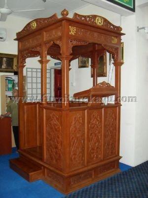 Jual Mimbar Masjid Kayu Jati FK 509