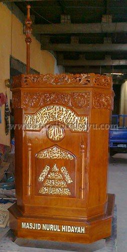 Model Mimbar Masjid Jati Jepara FK 515