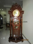 Jam Hias Mawar Kayu Jati FK 111