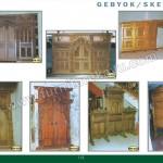 Gebyok dan Sketsel Ukiran Kayu Jati MPB 2017 - MPB 2029