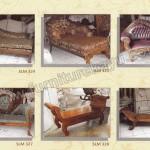 Sofa Bangku Kayu Jati Jepara SLM 300 - SLM 335