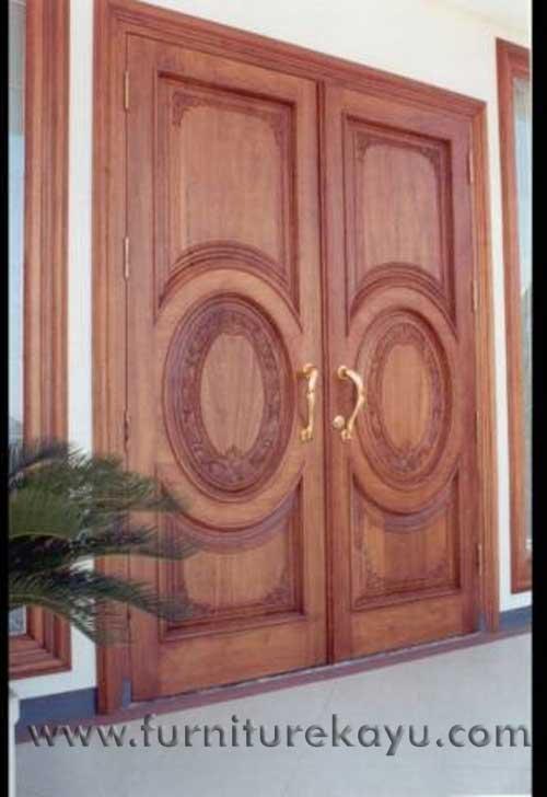 Kusen Pintu Panel Ukir Jepara KP 011
