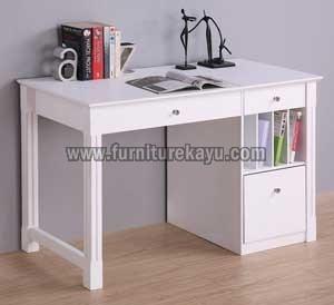 Furniture Kantor Meja Belajar Duco Putih