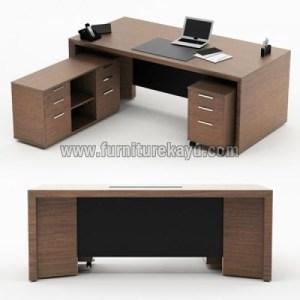 Furniture Kantor Meja Kerja Kayu