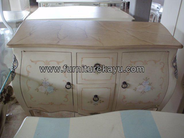Furniture Duco Mewah Dresser Emas