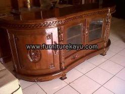 Buffet TV Lengkung Jepara