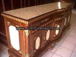 Desain Buffet TV Finishing Marmer