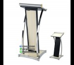 Model Podium Mimbar Minimalis Warna Putih Stainless FK-PM 111