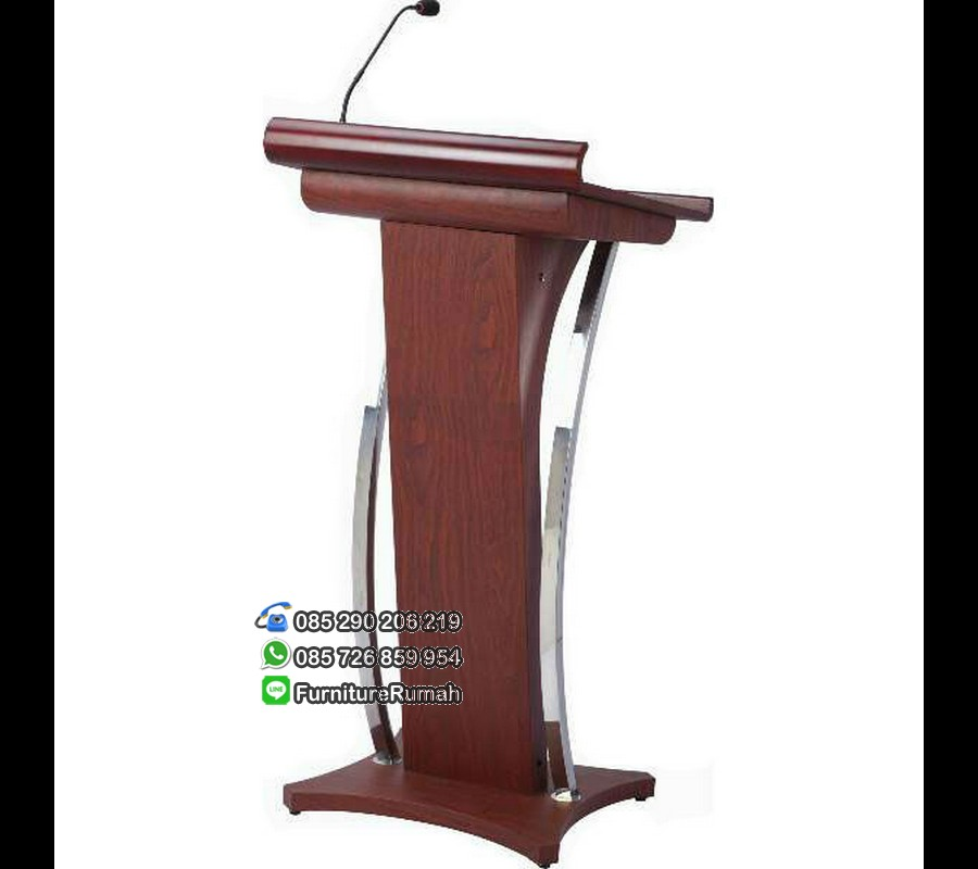 Podium Mimbar Minimalis Natural Stainless FK-PM 127