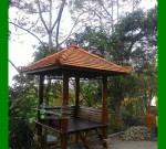 Desain Gazebo Minimalis Kayu Kelapa Di Bukit Tinggi FK-GZ 816