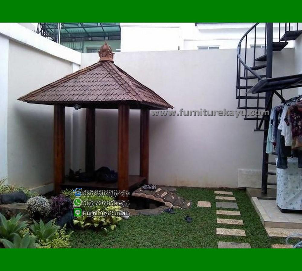 Furniture Gasebo Minimalis Kecil Untuk Rumah Minimalis FK-GZ 821