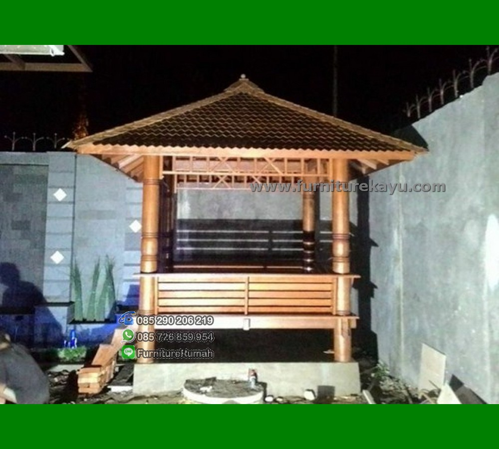 Furniture Kayu Gazebo Minimalis Jepara FK-GZ 822