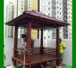Gazebo Apartemen Kayu Kelapa Minimalis FK-GZ 823