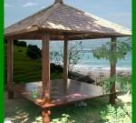 Gazebo Kayu Kelapa Dengan Posisi di Dekat Pantai yang Sejuk FK-GZ 825