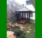 Gazebo Kayu Kelapa Minimalis Taman Samping Rumah FK-GZ 827