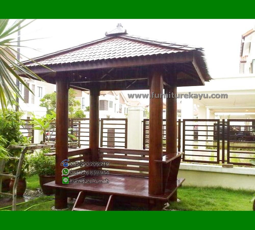 Gazebo Kayu Taman Rumah FK-GZ 829