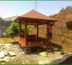 Gazebo Minimalis siap diPakai untuk Taman Minimalis FK-GZ 836