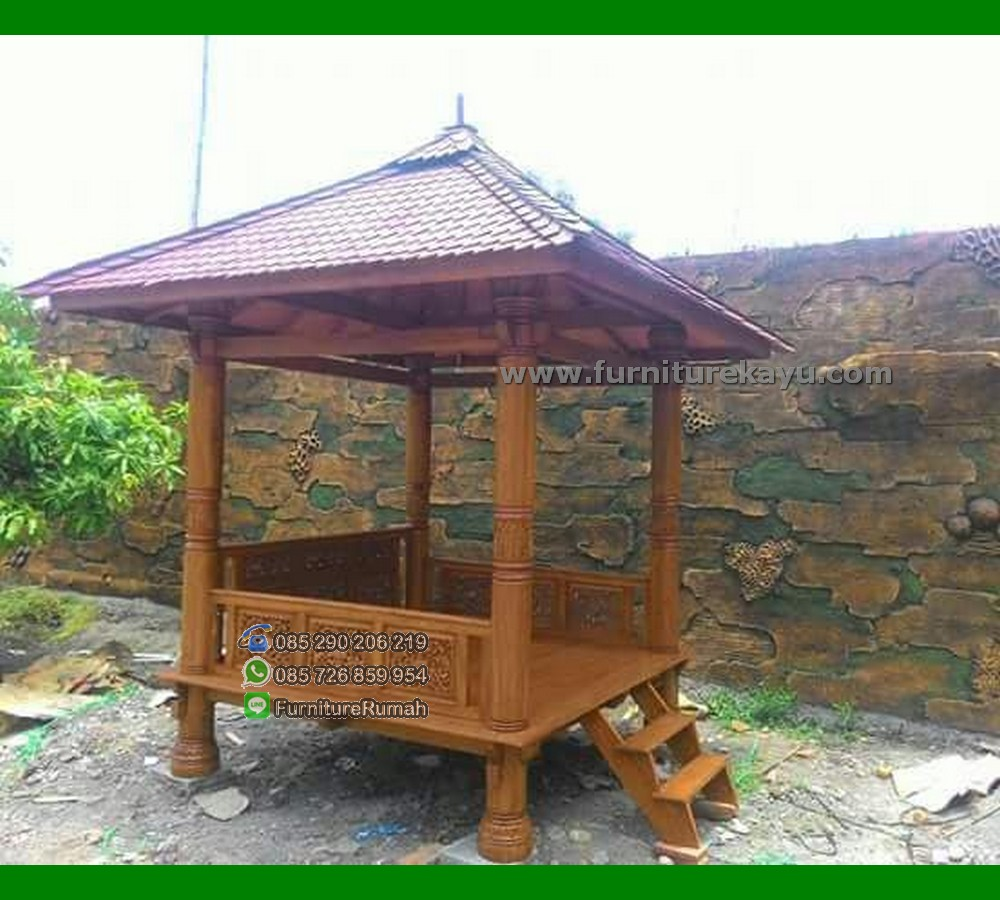 Gazebo Taman Kayu Jati Solid dari Jepara FK-GZ 838
