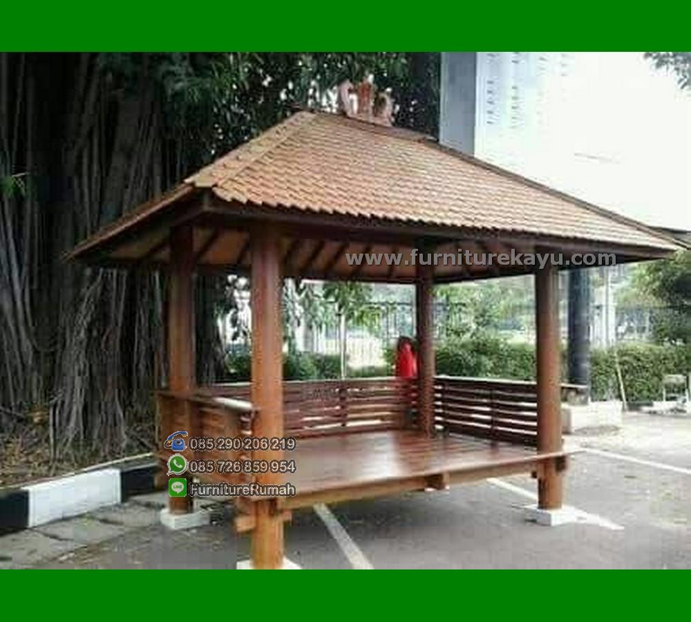 Pilihan Gazebo Minimalis Kayu Kelapa 2x3 Meter FK-GZ 865
