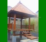 Ready Progress Gazebo Kayu Kelapa Cocok untuk Bersantai didekat Kolam FK-GZ 872