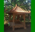 Ready Stock Gazebo Ukiran Jati Jepara Cocok Untuk Taman Mewah FK-GZ 873