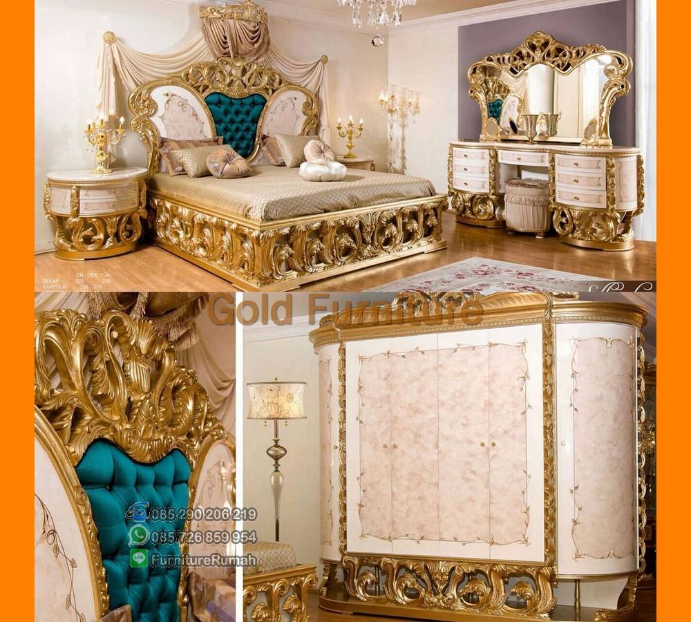 Contoh Desain Tempat Tidur Modern Ukiran Klasik Jepara FK KS 117