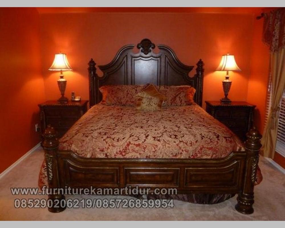 Foto Set Tempat Tidur Losmen Ukiran Simple Rudal FK KS 138