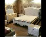 Full Set Tempat Tidur Ukiran Minimalis Duco Putih di Cirebon FK KS 140