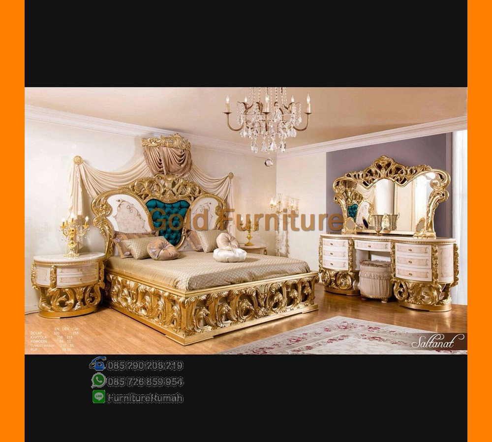 Furniture Apartemen Furniture Ukiran Mewah DUco Gold Klasik FK KS 144