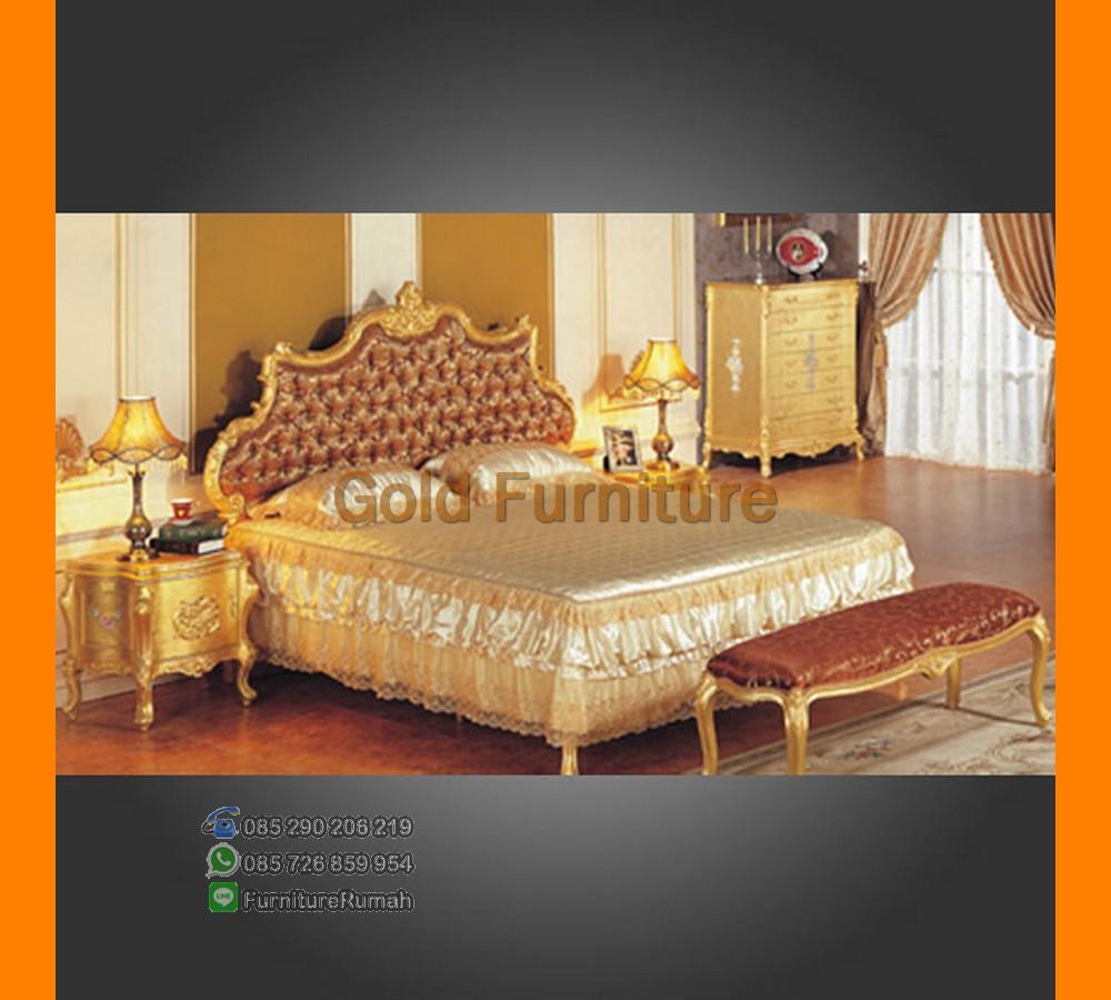 Furniture Kamar Set Tempat Tidur Duco Gold Mewah FK KS 152