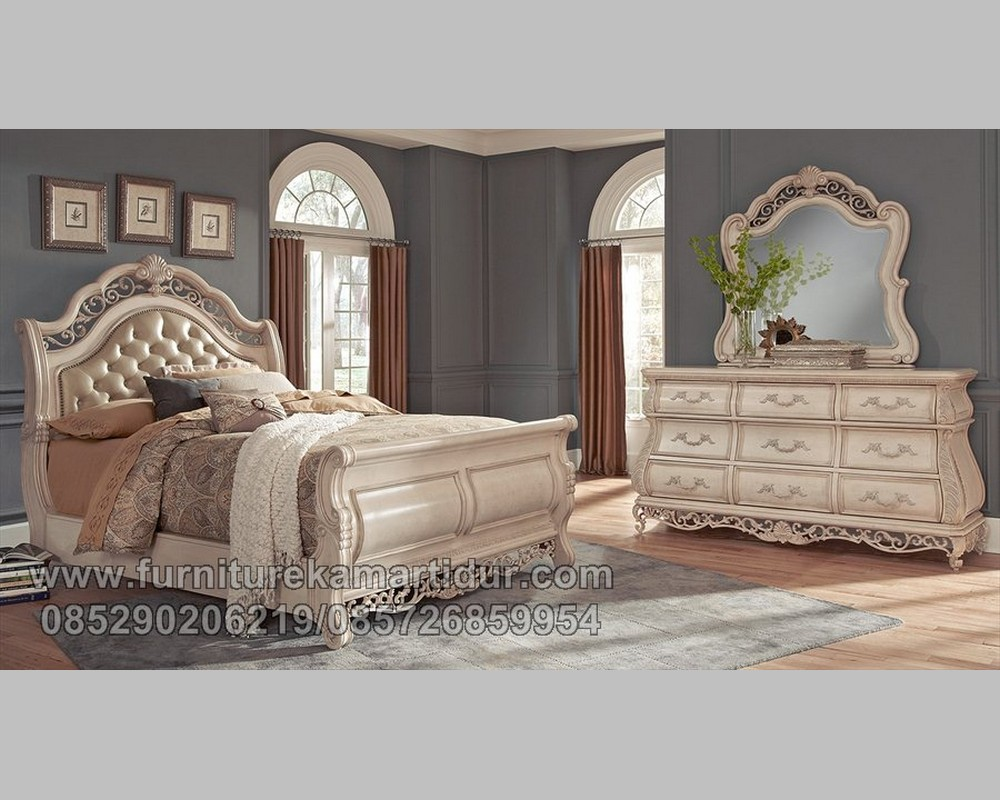 Furniture Tempat Tidur Duco Putih TUlang Model Bagong Five FK KS 176