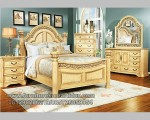 Indo Furniture Set Kamar Tidur Queen Duco Putih Mangkak FK KS 199