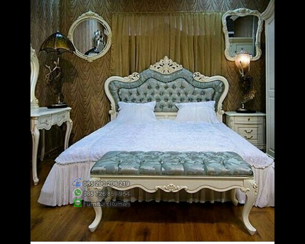 Jual Tempat Tidur Set Ukiran Jok Headbord Kombinasi FK KS 206