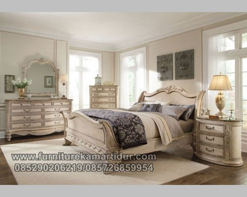 Kamar Set Duco Putih Antique Klassik Jepara FK KS 208