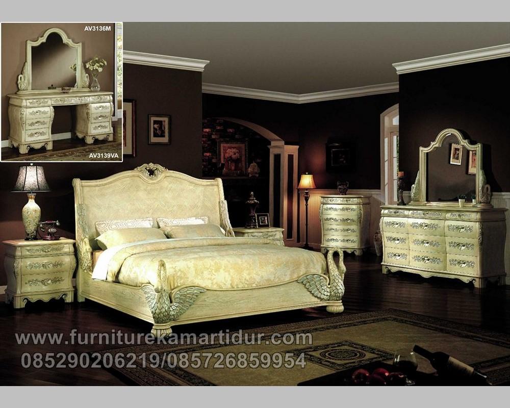 Model Tempat Tidur Motif Angsa Mewah Kombinasi FK KS 239