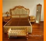 Paris Furniture Duco Set Tempat Tidur Mewah Gold Kombinasi Jok FK KS 247
