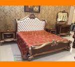 Set Kamar Tidur Klassik Jepara Dengan Pilihan Head Jok Putih Oscar FK KS 270