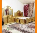 Set Tempat Tidur Minimalis Klasik Jepara Gold Emas FK KS 285