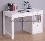 Furniture Kantor Meja Belajar Duco Putih Kode ( FK 024 )