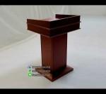Podium Mimbar Minimalis Kotak Jati Jepara FK-PM 123