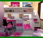 Tempat Tidur Anak Perempuan Barbie FK TA 411