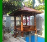Gazebo Minimalis Kayu Kelapa Cocok untuk Pinggir Kolam Ikan FK-GZ 834