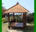 Gazebo Taman Minimalis Atap Sirap FK-GZ 839