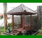 Gazebo di Taman Minimalis Depat Rumah Sangat Cantik FK-GZ 824