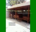 Jual Gazebo Rumah Makan Ukuran 9×4 Meter Kayu Kelapa FK-GZ 849
