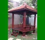 Model Gazebo Minimalis dengan Tiang Model Persegi FK-GZ 854