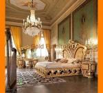 Contoh Desain Set Tempat Tidur Kupu Gold Klasik Jepara FK KS 115