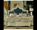 Furniture Duco Putih Set Tempat Tidur Jok Biru FK KS 149