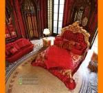 Furniture Klasik Set Tempat Tidur Kerajaan Duco Gold FK KS 163