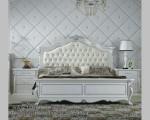 Gambar Set Tempat Tidur Ukiran Duco Putih Jepara FK KS 186
